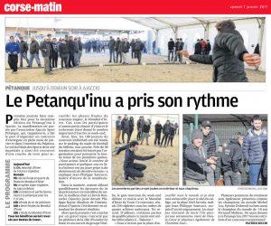 Le Petanqu'inu a pris son rythme