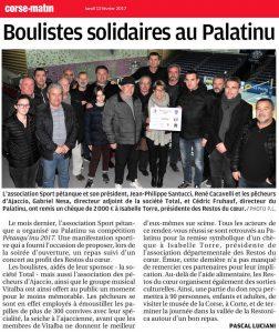 Boulistes solidaires au Palatinu